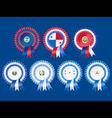 rosettes to represent central american countries i vector image