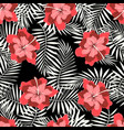 rtopical pattern on black vector image vector image