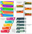 set of four elements of infographic design vector image vector image