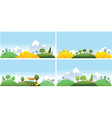 Set of summer landscape vector image