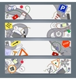 sketchy doodle banners vector image vector image