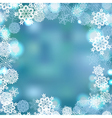 Snowflackes frame winter background vector image