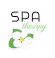 Spa therapy label vector image vector image