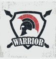 spartan warrior grunge stamp vector image