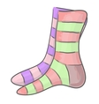 Striped socks vector image vector image