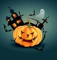 stylish halloween design vector image vector image