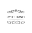 Sweet honey Flower and filigree swirls decoration vector image