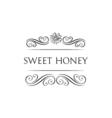 Sweet honey Flower and filigree swirls decoration vector image