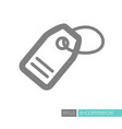tag icon price label symbol vector image vector image