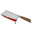 the funny meat cutter vector image