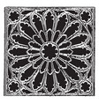 tracery gothic vintage engraving vector image vector image
