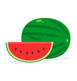 watermelon fruit icon isolated fruits and vector image vector image