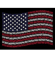 waving united states flag stylization of family vector image
