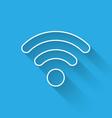 white wi-fi wireless internet network symbol icon vector image vector image