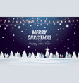 winter snowy night forest landscape with spruce vector image vector image