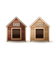 wooden dog houses vector image