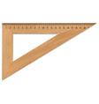 Wooden triangle vector image