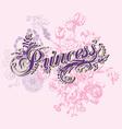 Wording of princess vector image vector image