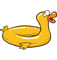 yellow inflatable duck vector image vector image