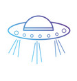 line ufo object vehicle technology science vector image