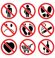 prohibition signs vector image