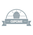 cupcake logo simple gray style vector image