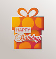 Gift box with ribbon Flat design vector image