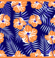 rtopical pattern on blue vector image