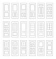 big set of door ideas big set combination vector image