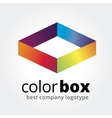 Abstract box logotype concept isolated on white vector image vector image