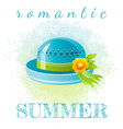 abstract watercolor summer grunge background vector image vector image