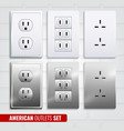 american outlets set vector image