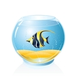 Aquarium with Tropical Fish vector image vector image