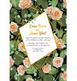 beautiful watercolor greeting card wedding vector image vector image
