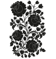 Black ornamental pattern of flowers and leaves vector image vector image