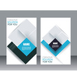 brochure template design with cubes and vector image vector image