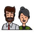 business couple teamwork vector image