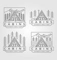 cabin line art logo minimalist design vector image vector image