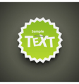 Chat id sticker vector image vector image