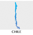 chile map in south america continent design vector image vector image