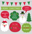 christmas frames cards and greetings set vector image