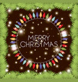 circular frame with garlands and christmas lights vector image vector image