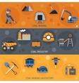 Coal Industry Banners vector image vector image