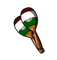 color sketch maracas vector image