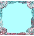 Colorful frame with tea leaves vector image vector image