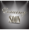Coming soon image vector image vector image