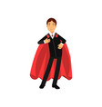 confident business man with superhero mantle vector image vector image