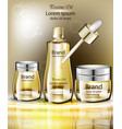 cosmetics oil set collection realistic vector image