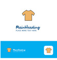 creative shirt logo design flat color logo place vector image