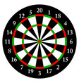 darts target for darts isolated object white vector image vector image
